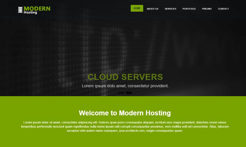 free web hosting templates