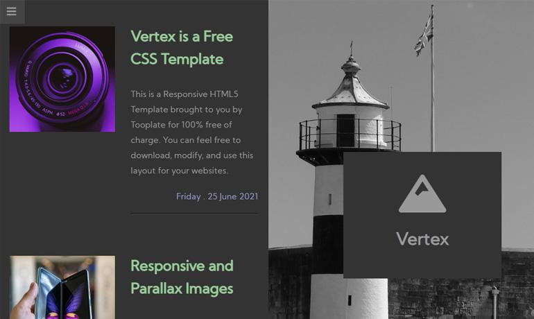 free parallax html templates